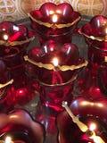 lámparas de aceite rojas Imágenes de archivo libres de regalías