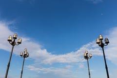Lámparas de calle Foto de archivo