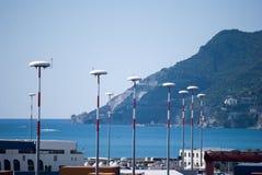 Lámparas de calle del borde Imagen de archivo libre de regalías