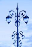 Lámparas de calle en el estilo del art déco Imágenes de archivo libres de regalías