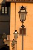 Lámparas de calle en Florencia Foto de archivo