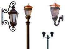 Lámparas de calle retras Fotos de archivo libres de regalías