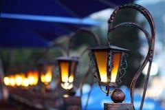 Lámparas de calle viejas Imágenes de archivo libres de regalías