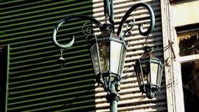 Lámparas de calle viejas de Buenos Aires almacen de video