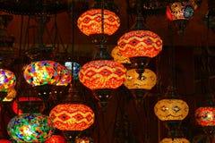 Lámparas de cristal turcas del mosaico imagenes de archivo