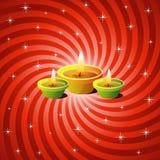 Lámparas de Diwali Foto de archivo