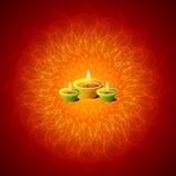 Lámparas de Diwali que brillan intensamente ilustración del vector