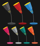 Lámparas de escritorio coloridas Fotografía de archivo