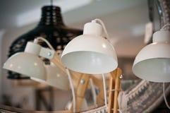 Lámparas de escritorio en venta Foto de archivo