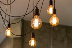 Lámparas de filamento del tungsteno foto de archivo libre de regalías