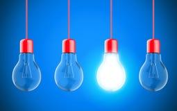 Lámparas de la bombilla Imágenes de archivo libres de regalías