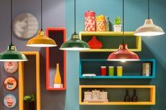 Lámparas de la linterna de la lata del estilo del vintage i imagen de archivo libre de regalías