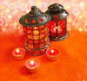 Lámparas de la Navidad Imagen de archivo libre de regalías
