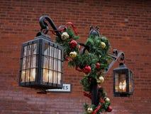 Lámparas de la Navidad Fotos de archivo