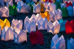 Lámparas de papel Imágenes de archivo libres de regalías