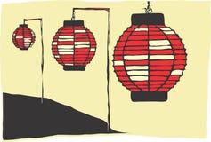 Lámparas de papel Foto de archivo libre de regalías