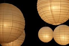Lámparas de papel del globo horizontales Fotos de archivo