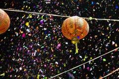 Lámparas de papel en Chinatown en Año Nuevo chino
