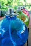 Lámparas de petróleo coloreadas Imagenes de archivo