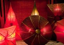 Lámparas de seda que brillan intensamente fotografía de archivo