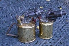 Lámparas de soldar del keroseno Fotografía de archivo libre de regalías