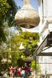 Lámparas decorativas de la calabaza Imagen de archivo libre de regalías