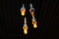 Lámparas decorativas del techo Foto de archivo libre de regalías