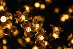 Lámparas del árbol de navidad Imágenes de archivo libres de regalías