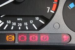 Lámparas del control del coche Fotos de archivo