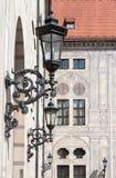 Lámparas del hierro en Hofgarten Munich Alemania Fotos de archivo libres de regalías