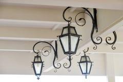 Lámparas del hierro labrado Imagenes de archivo