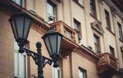Lámparas del hierro labrado imagen de archivo