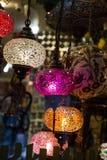 Lámparas del otomano del mosaico del bazar magnífico Imagenes de archivo