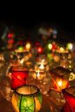 Lámparas del souk en Marrakesh en la noche Fotos de archivo