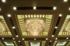 Lámparas del techo del hotel de Luxuary Imagen de archivo