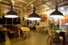 Lámparas del vintage en un restaurante Fotografía de archivo