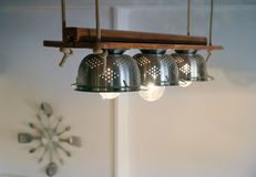 Lámparas diy colgadas Imagen de archivo libre de regalías