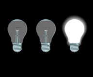 Lámparas eléctricas Foto de archivo libre de regalías