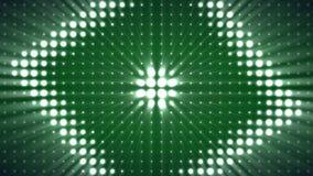 Lámparas eléctricas, abstracción del color, lazo, rombus Fondo llevado virtual moderno de la animación de Rombus almacen de video