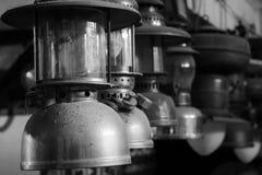 Lámparas en blanco y negro Foto de archivo