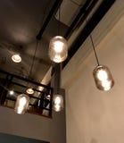 Lámparas en cafetería Foto de archivo libre de regalías