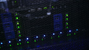 Lámparas en iterface del servidor de la placa madre almacen de video