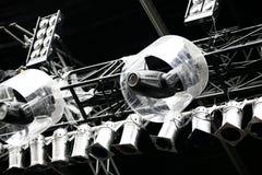 Lámparas en la etapa Fotos de archivo libres de regalías