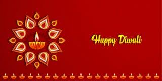 Lámparas felices de Diwali Diya encendidas durante la celebración del diwali imagenes de archivo