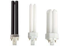 Lámparas fluorescentes compactas. Foto de archivo libre de regalías