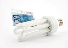 Lámparas fluorescentes euro Imagen de archivo libre de regalías