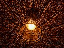 Lámparas hechas de la madera Imagenes de archivo