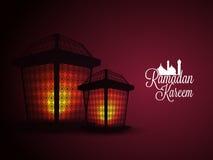 Lámparas iluminadas para Ramadan Kareem Imagen de archivo