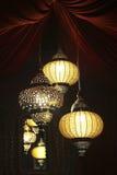 Lámparas indias Imágenes de archivo libres de regalías
