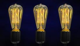 Lámparas ligeras de lujo retras fotografía de archivo